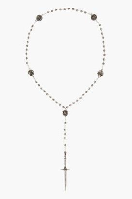 Pamela Love Antiqued silver Rosebud Dagger Rosary