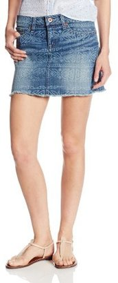 Lucky Brand Women's Pattern Denim Mini Skirt