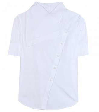 McQ by Alexander McQueen Asymmetric cotton shirt