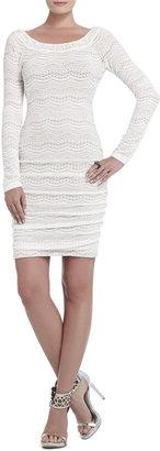 BCBGMAXAZRIA Halle Lace-Shirred Dress
