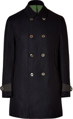 Oliver Spencer Wool Lighthouse Coat in Pallas Navy