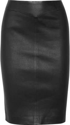 Joseph Stretch-leather pencil skirt