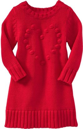 Old Navy Popcorn-Heart Sweater Dresses for Baby