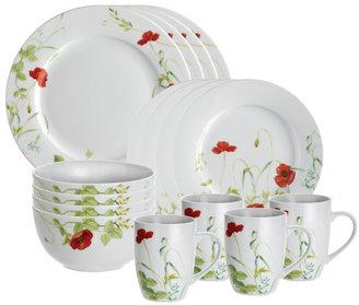 Paula Deen Signature Poppy Valley 16 Piece Dinnerware Set