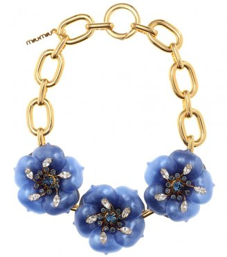 Miu Miu NECKLACE WITH OVERSIZED FLOWER EMBELLISHMENT