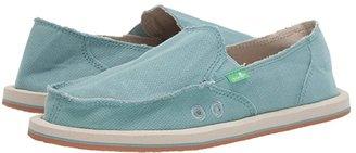 Sanuk Donna Hemp (Mineral Blue) Women's Slip on Shoes