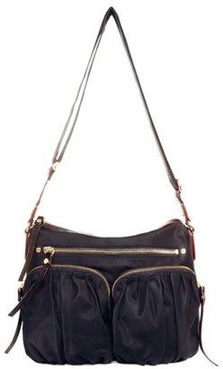 Mz Wallace 'Paige' Bedford Nylon Crossbody Bag - Black $295 thestylecure.com