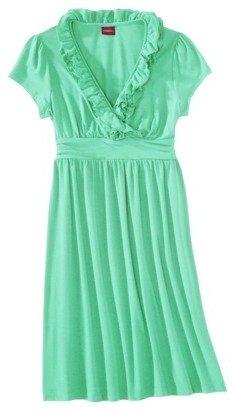 Merona Petites Short-Sleeve V-Neck Ruffled Dress - Assorted Colors