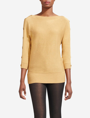 The Limited Button-Sleeve Dolman Sweater