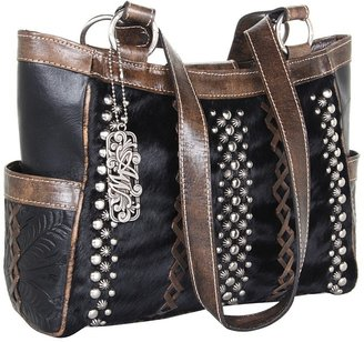 American West River Rock 3 Compartment Tote (Black) - Bags and Luggage