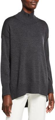 Eileen Fisher Mock Neck Oversized Wool Sweater