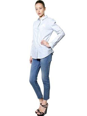 Burberry Striped Logo Cotton Poplin Shirt