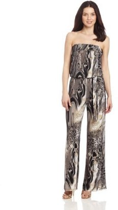 Annalee + Hope Women's Animal Abstract Jumpsuite