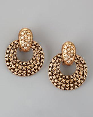 Oscar de la Renta Pave Door-Knocker Earrings