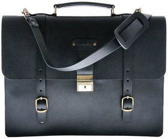 Leatherbay palermo 14-in. laptop leather saddle briefcase