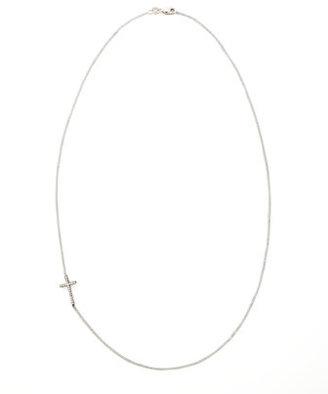 KC Designs Diamond-Cross Necklace, Blackened White Gold