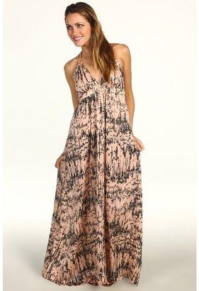 T-Bags Tbags Los Angeles - Tie Neck Dress (CA6 Print) - Apparel