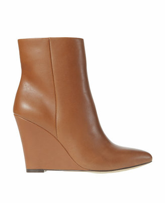Ann Taylor Emerson Leather Wedge Booties