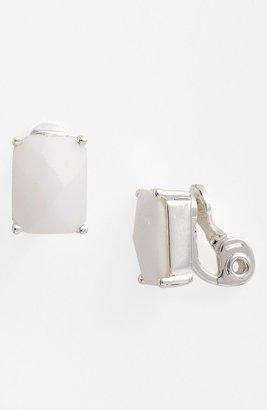 Anne Klein 'Bejeweled' Button Clip Earrings