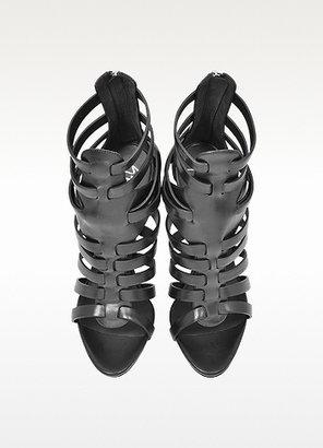 Giuseppe Zanotti Black Leather High Heel Sandal