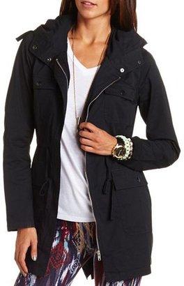 Charlotte Russe Long Hooded Anorak Jacket