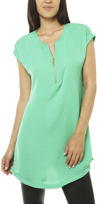 Arden B Zip Front Studded Tunic