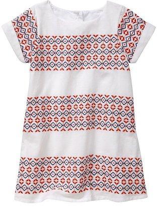 Gap Embroidered cap-sleeve dress