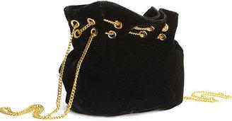 Betsey Johnson Velvet Crush Drawstring Bag