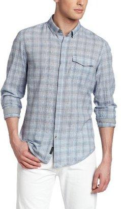 Calvin Klein Jeans Men's Mirror Plaid Long Sleeve Woven