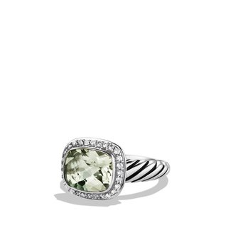 David Yurman Noblesse Ring with Prasiolite and Diamonds