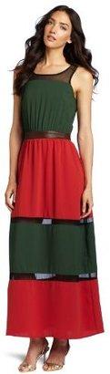 Luce C. Women's Flowy Colorblock Maxi Dress