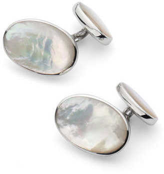 Aspinal of London Oval Sterling Silver Semi Precious Cufflinks
