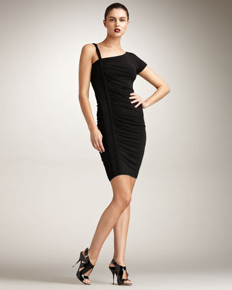 Just Cavalli Ruched Jersey Dress