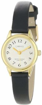 Carriage Women's C3C602 Gold-Tone Round Case Black Strap Watch $35.95 thestylecure.com