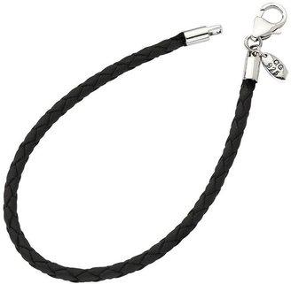 Prerogatives Braided Black Cord Bracelet With Lobster Clasp