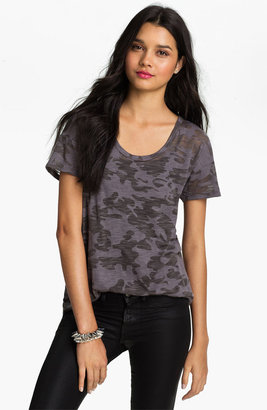 Lush Clothing Camo Print Boyfriend Tee (Juniors)