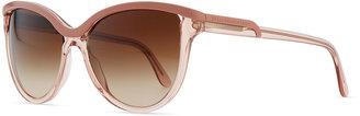 Stella McCartney Semi-Round Clear/Opaque Sunglasses