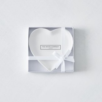 The White Company Porcelain Heart Soap Plate, No Colour, One Size