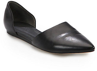 Vince Leather D'Orsay Flats