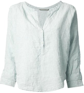 Humanoid collarless blouse