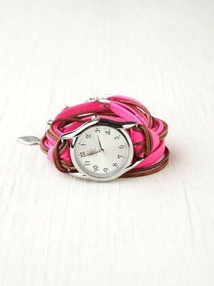 Free People Sara Designs Neon Watch Bracelet