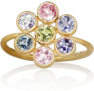 Marie Helene De Taillac Marie-Hélène de Taillac Tiny Marguerite 22-karat gold sapphire ring