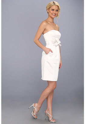 Donna Morgan Strapless Bow Front Tulip Dress