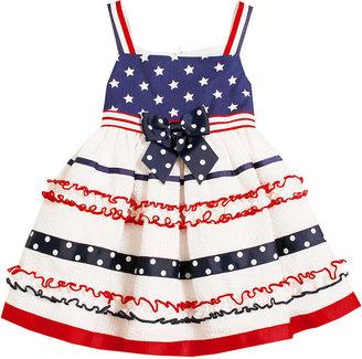 Bonnie Baby Dress, Baby Girls Printed Poplin Seersucker Americana Sundress
