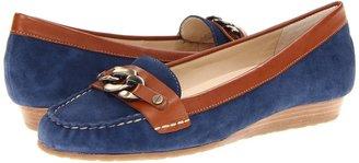 Anne Klein Aggee (Blue Suede) - Footwear