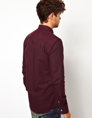 Minimum Oxford Shirt with Contrast Under Cuff