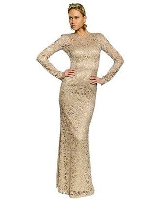 Dolce & Gabbana Viscose Lace Long Dress