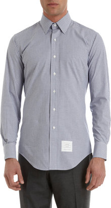 Thom Browne Check Button Front Shirt