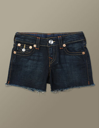True Religion Girls Dolly Cut Off Indigo Lonestar Short - Vera Cruz