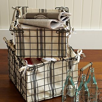 Williams-Sonoma Wire Storage Basket with Liner